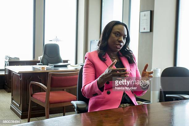 Education Minister Mitzie Hunter is pictured inside her office in the Mowat Block on Bay Street