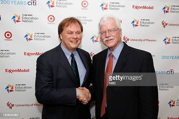 Education Nation: New York Summit, Day 1 -- Pictured: William Hansen and George Miller at NBC News' Education Nation Summit at the New York Public...