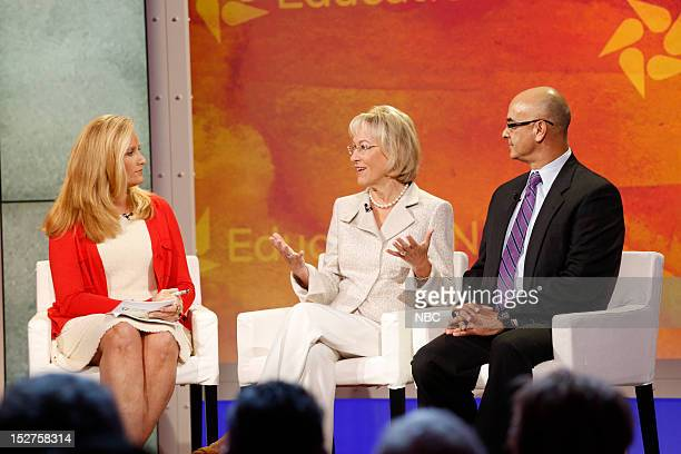 New York Summit Day 3 Pictured Alex Witt Patricia Kuhl and Rich Noriega at NBC News' Education Nation Summit at the New York Public Library in New...