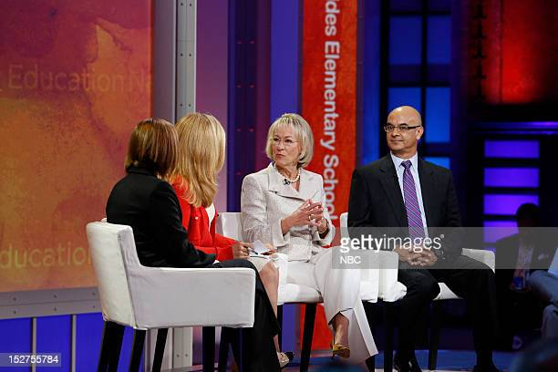 New York Summit Day 3 Pictured Virginia Castro Alex Witt Patricia Kuhl and Rick Noriega at NBC News' Education Nation Summit at the New York Public...
