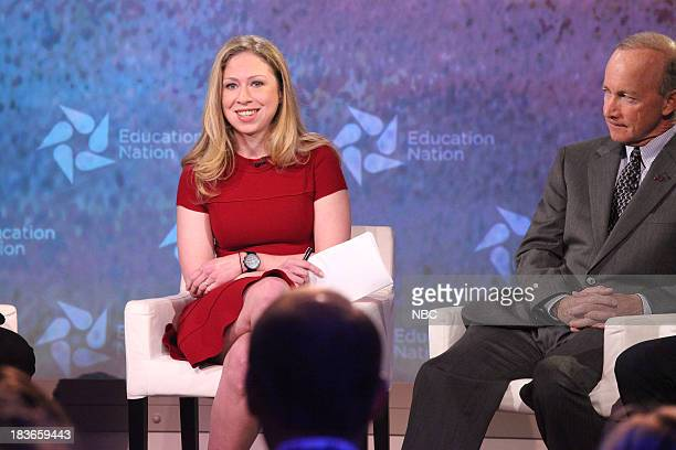Education Nation Summit -- Pictured: Chelsea Clinton, Special Correspondent for NBC News, and Mitch Daniels, President of Purdue University, IN. --
