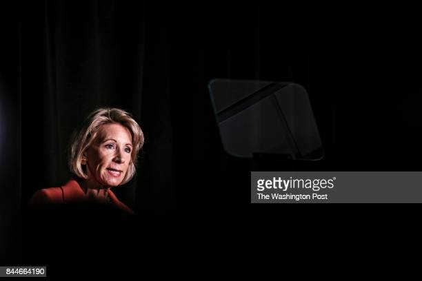 S Education Secretary Betsy DeVos announces changes in federal policy on rules for investigating sexual assault reports on college campuses in at The...