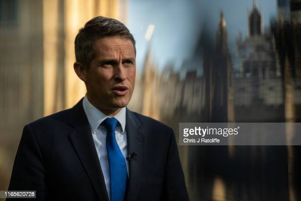 Education Secretary Gavin Williamson conducts a television interview on September 2 2019 in London England British Prime Minister Boris Johnson has...