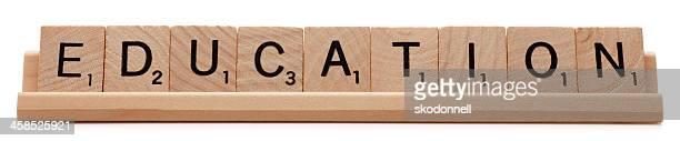 Education Spelled Using Scrabble