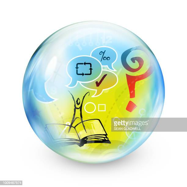 education sphere - support icon stock photos and pictures