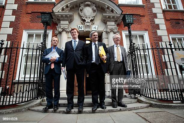 Education spokesman David Laws Chair of the Manifesto Group Danny Alexander Shadow Home Secretary Chris Huhne and MP Andrew Stunnell of the Liberal...