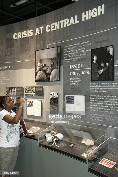 Educational exhibit at Central High School National Historic Site