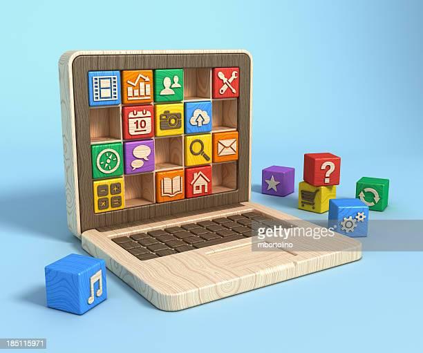 Educational software concept - laptop