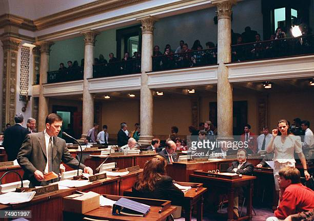 EDUCATIONSen Lindy Casebier on the floor of the Senate of the Kentucky General Assembly during debate of S243 a bipartisan bill sponsored by Casebier...
