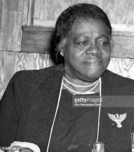 Educator and Civil Rights activist Mary McLeod Bethune 1940