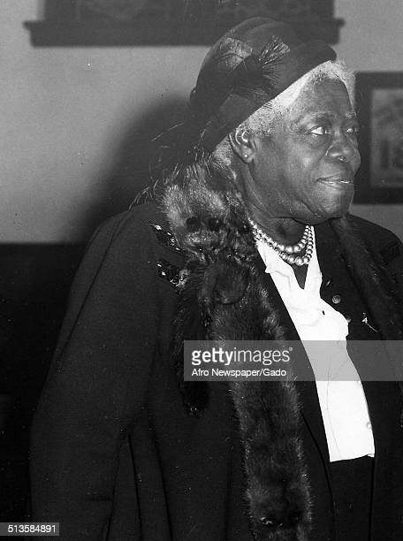 Educator and Civil Rights activist Mary McLeod Bethune 1945