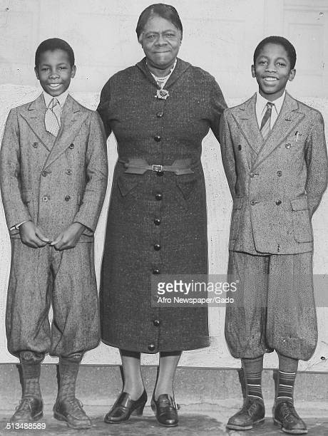 Educator and Civil Rights activist Mary McLeod Bethune and African American youth November 17 1941