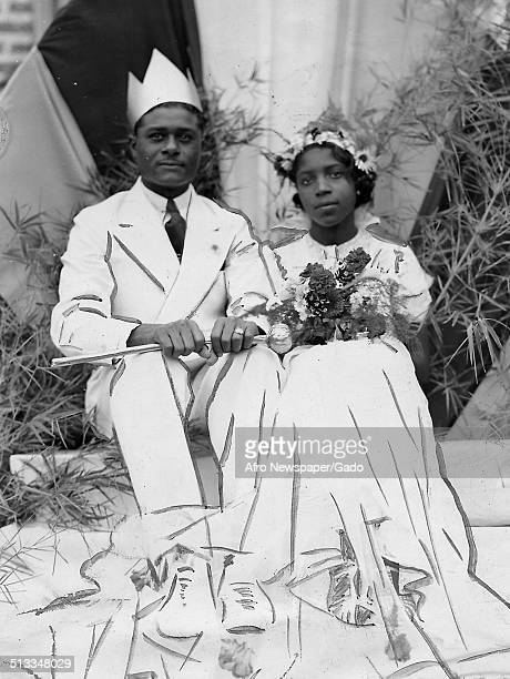 Educator and Civil Rights activist Mary McLeod Bethune and husband posing during their wedding May 20 1937