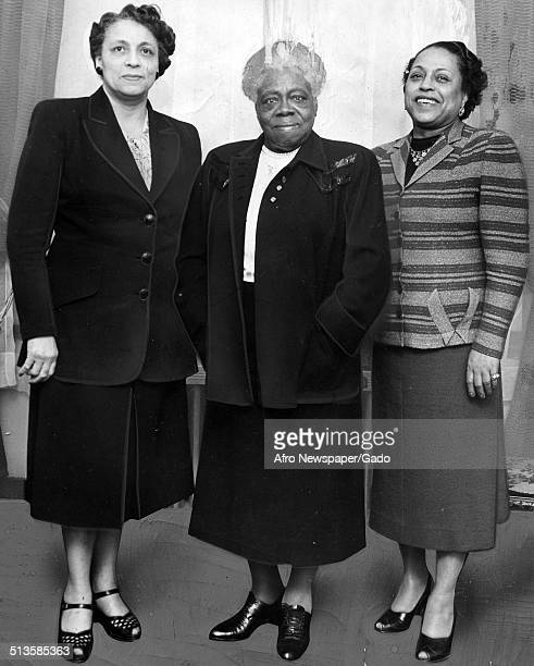 Educator and Civil Rights activist Mary McLeod Bethune and two women 1952