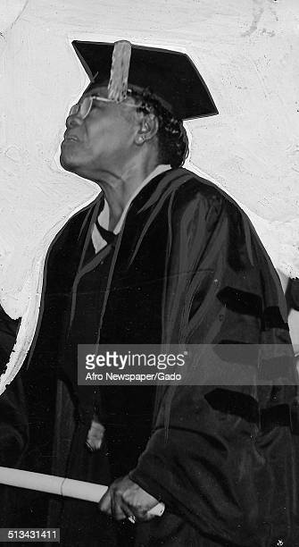 Educator and Civil Rights activist Mary McLeod Bethune receiving an honorary degree June 9 1942