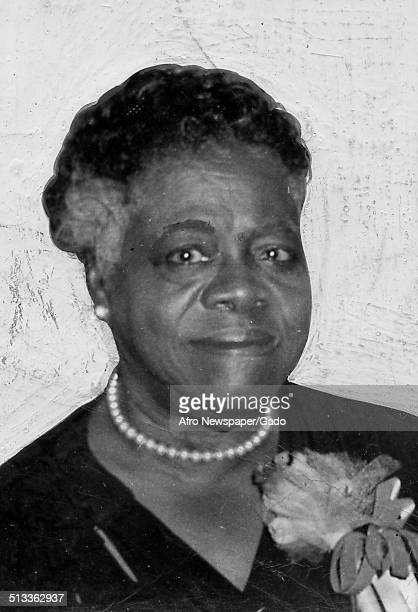 Educator and Civil Rights activist Mary McLeod Bethune standing April 3 1940