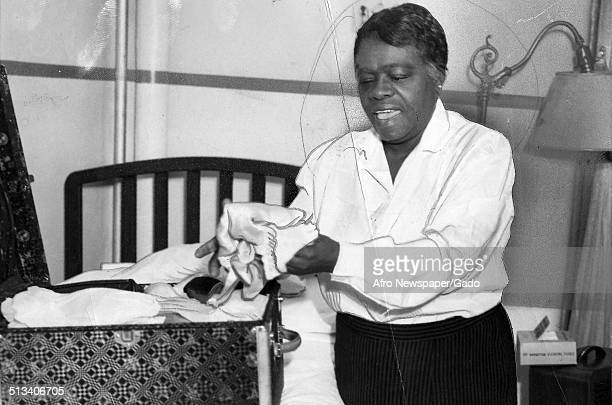 Educator and Civil Rights activist Mary McLeod Bethune washing laundry June 8 1940