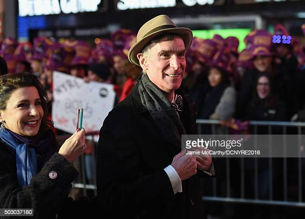 Educator and TV personality Bill Nye attends the Dick Clark's New Year's Rockin' Eve with Ryan Seacrest 2016 on December 31 2015 in New York City