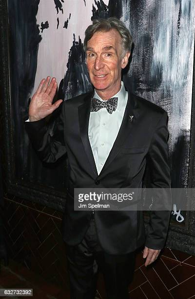 Educator Bill Nye attends the screening after party for The Space Between Us hosted by STX Entertainment with The Cinema Society at Jimmy at The...