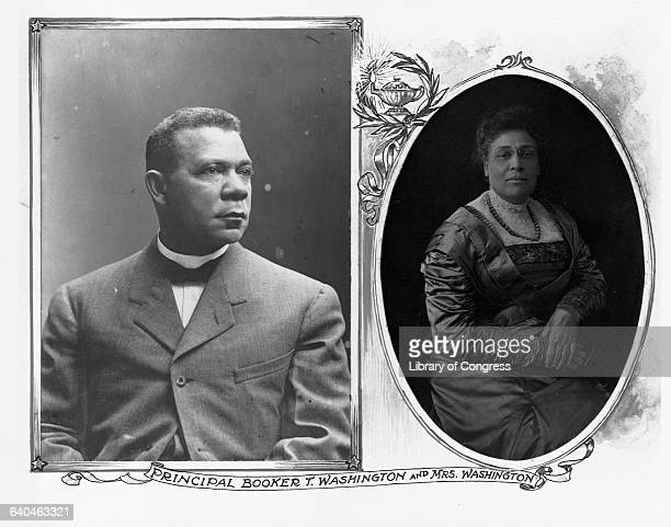Educators Booker T Washington and Margaret Murray Washington