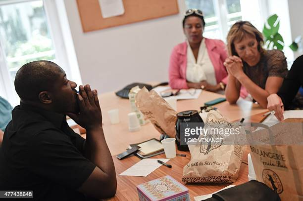 PJJ educators take part in a meeting focused on minor children placed in a CEF on June 16 2015 in a center at SaintBricesousForet Created in 2002...