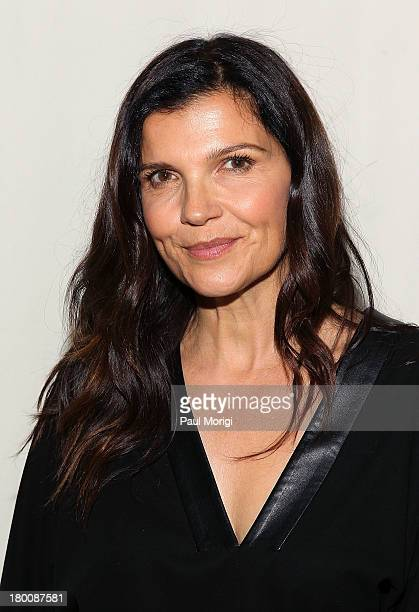 Edun founder Ali Hewson attends the Edun show during Spring 2014 MercedesBenz Fashion Week at Skylight Modern on September 8 2013 in New York City
