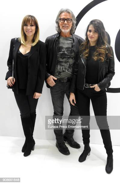 Edurne Alberto Cerdan and Sara Salamo attend Cosmobeauty on January 20 2018 in Barcelona Spain