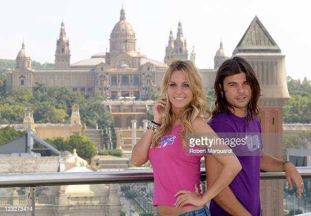 Edurne and musical cast attend a press presentation for the new 'Grease The Musical' at the Las Arenas on September 1 2011 in Barcelona Spain