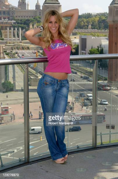 Edurne attends a press presentation for the new 'Grease The Musical' at the Las Arenas on September 1 2011 in Barcelona Spain