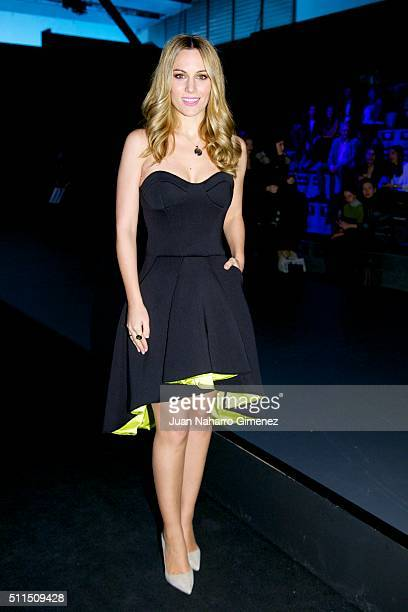 Edurne attends the front row of Ulises Merida/Maya Hanses show during the MercedesBenz Madrid Fashion Week Autumn/Winter 2016/2017 at Ifema on...