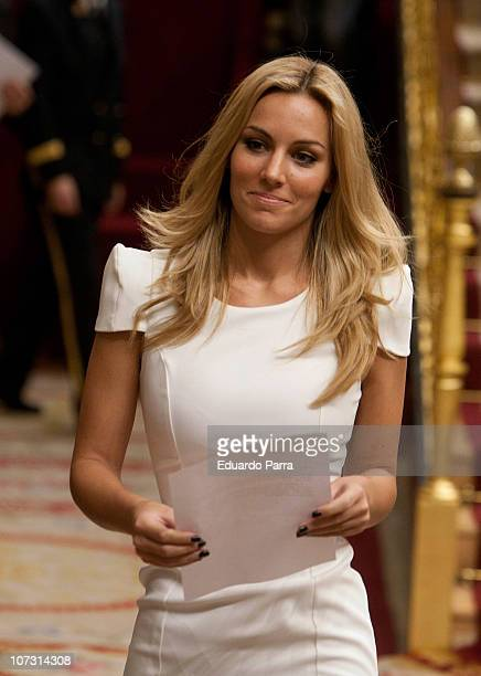 Edurne attends the public reading of the Spanish Constitution at Palace of the Parliament on December 3 2010 in Madrid Spain