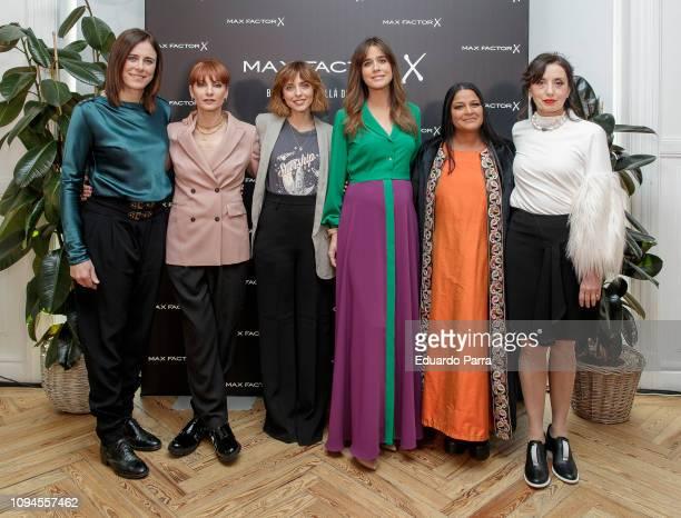 Edurne Pasaban Najwa Nimri Leticia Dolera Isabel Jimenez Asha Miro and Luz Casal attend the 'Max Factor Campaign' presentation at Allard Club on...