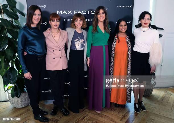 Edurne Pasaban Najwa Nimri Leticia Dolera Isabel Jimenez Asha Miro and Luz Casal attend Max Factor Campaign presentation on January 15 2019 in Madrid...