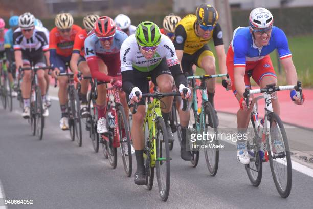 Edvald Boasson Hagen of Norway and Team Dimension Data / Arnaud Demare of France and Team Groupama FDJ / during the 102nd Tour of Flanders 2018 Ronde...
