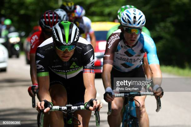 Edvald Boasson Hagen of Norway riding for Team Dimension Data rides in the breakaway during stage five of the 2017 Le Tour de France a 1605km stage...
