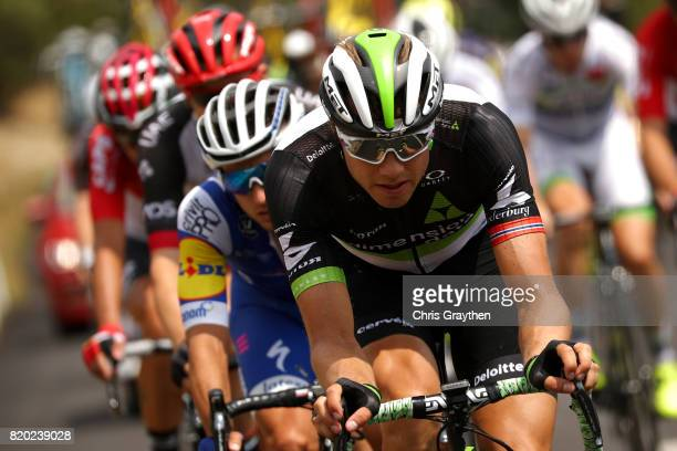 Edvald Boasson Hagen of Norway riding for Team Dimension Data rides in the breakaway during stage 19 of the 2017 Le Tour de France a 2225km stage...