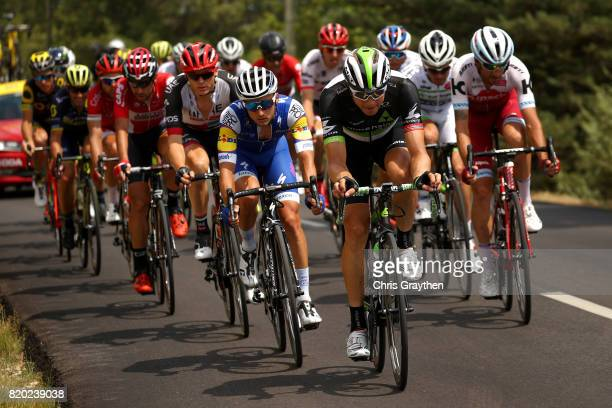 Edvald Boasson Hagen of Norway riding for Team Dimension Data rides in the breakaway during stage 19 of the 2017 Le Tour de France, a 222.5km stage...