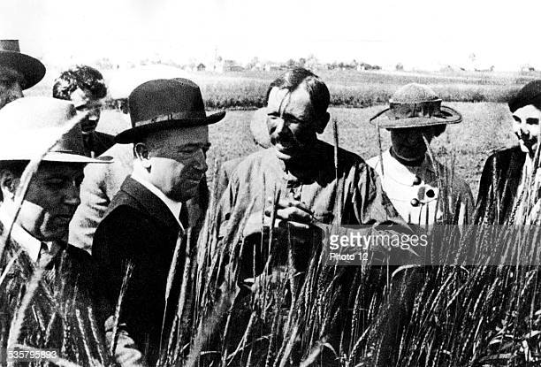 Edvard Benes in a communist kolkhoz 20th Czechoslovakia