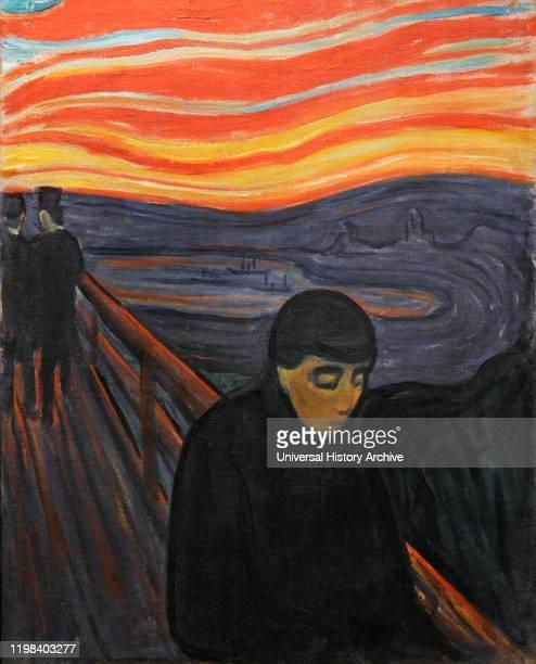 Edvard Munch . Norwegian painter. Despair, 1894. Munch Museum, Oslo, Norway.