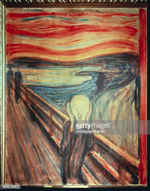 Edvard Munch , The Scream Tempera and pencil on cardboard 91 x 0,73 m, Oslo, Nasjonalmuseet.