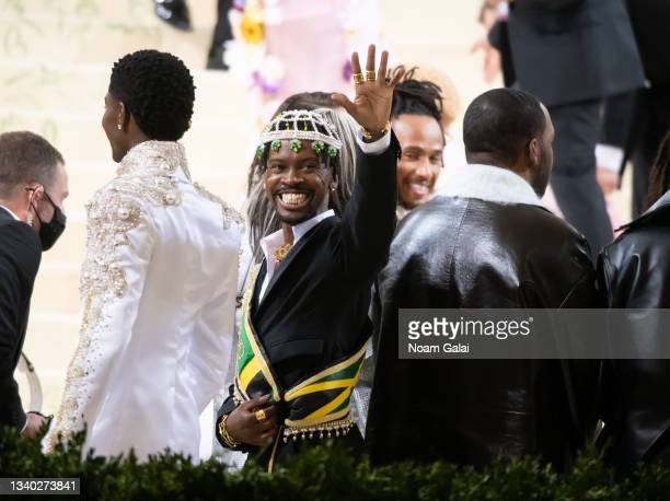 Edvin Thompson attends the 2021 Met Gala celebrating 'In America: A Lexicon of Fashion' at The Metropolitan Museum of Art on September 13, 2021 in...