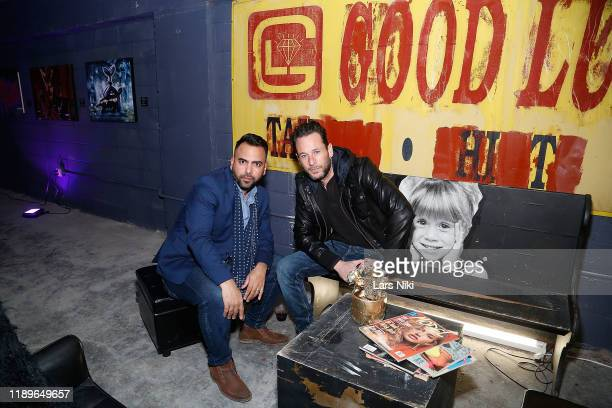 Edward Acosta and Jeremy Penn attends the private opening of the Good Luck Dry Cleaners Bowery location at 3 East 3rd on December 19 2019 in New York...