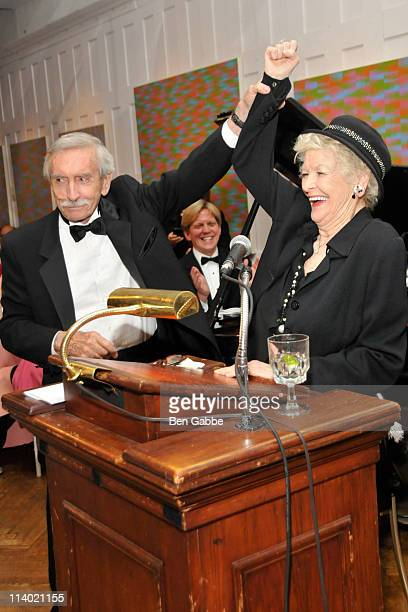 Edward Albee and Elaine Stritch attend his ceremony for lifetime achievement at The National Arts Club on May 10 2011 in New York City