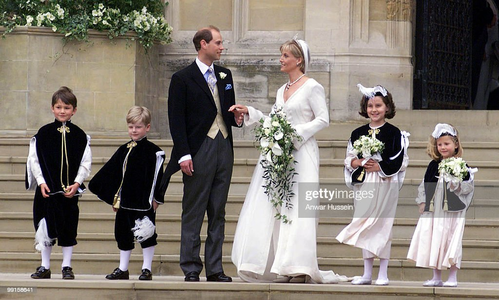 Edward and Saphie, the new Earl and Countess of Wessex on their wedding day in Windsor on June 19, 1999.