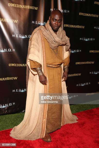 Edward Apeagyei attends the International SciFi Series 'Medinah' premiere and red carpet reception at ComicCon International 2017 at The Manchester...
