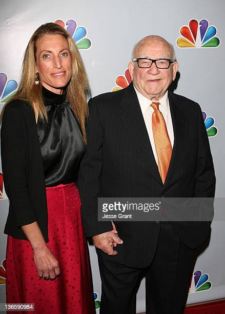 Edward Asner and daughter Liza attend Betty White's 90th Birthday A Tribute To America's Golden Girl at the Millennium Biltmore Hotel on January 8...