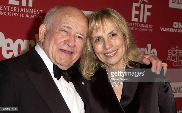 Edward Asner and wife Cindy Gilmore