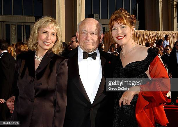 Edward Asner Wife Cindy Daughter Kate during The 8th Annual Screen Actors Guild Awards Arrivals at Shrine Exposition Center in Los Angeles California...
