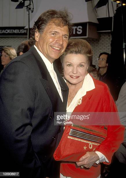 Edward Bell and Esther Williams during 'In the Line of Fire' Los Angeles World Premiere at Mann's Village Theater in Westwood California United States