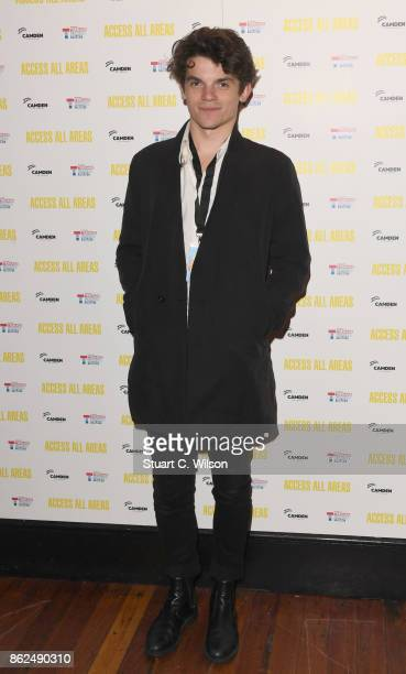 Edward Bluemel arrives at the 'Access All Areas' VIP gala screening held at Proud Camden on October 17, 2017 in London, England.
